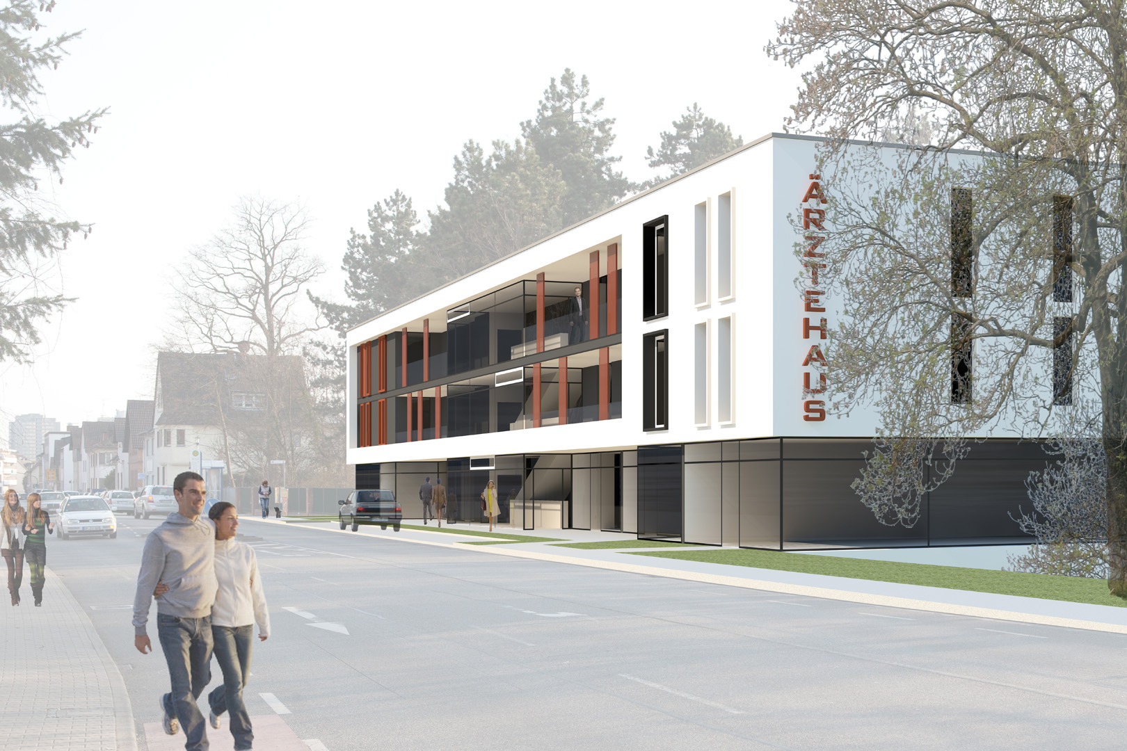 Ärztehaus Langen (Hessen): Planung 2012 /  BRI ca. 26.450m³ / BGF ca. 8.810m²