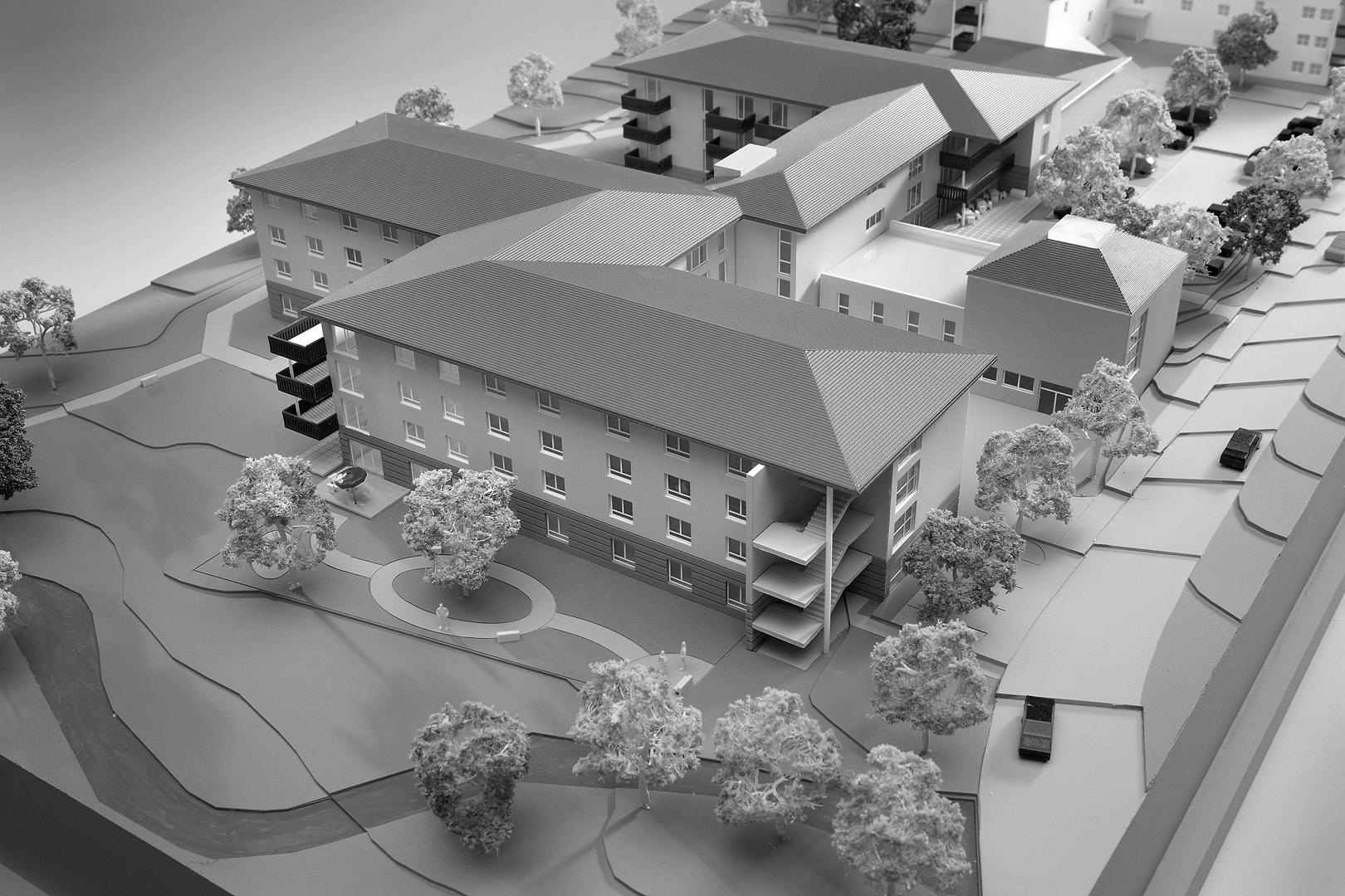 Seniorenzentrum Krumbach: Fertigstellung 1. Bauabschnitt 2010 /Fertigstellung 2. Bauabschnitt 2012 / BRI ca. 28.000m³ / BGF ca.  7.800m²